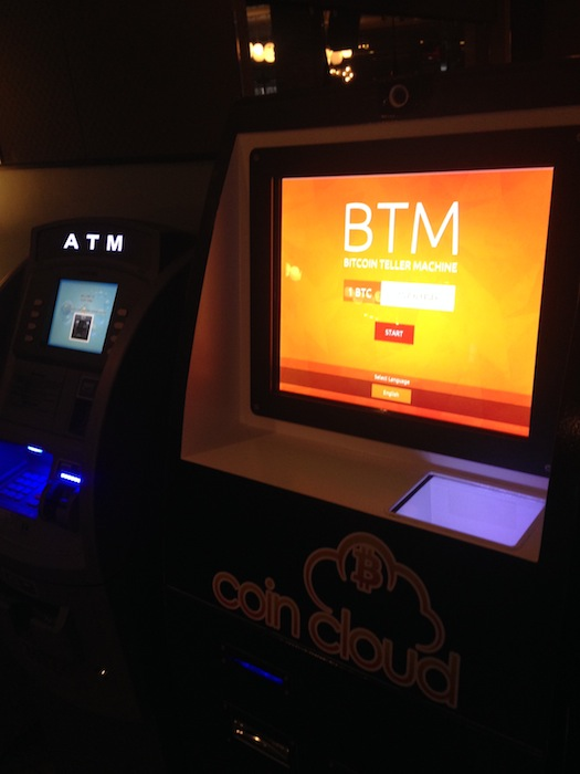 Bitcoin Teller Maching at Gold Spike in Las Vegas. Photo by Michael Taylor.