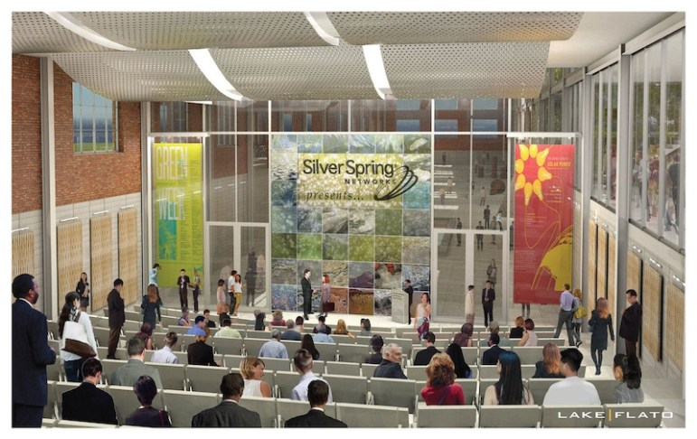 The EPIcenter's auditorium. Preliminary rendering courtesy of Lake/Flato Architects.