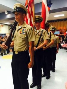 Marines at dedication ceremony Friday at Sky Harbour Elementary. Courtesy photo.