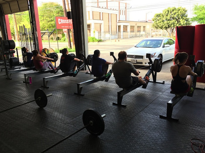 A group of CrossFit MBS members exercise together. Courtesy image.