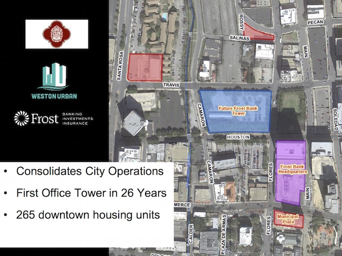 Map of future tower and 265 housing units.