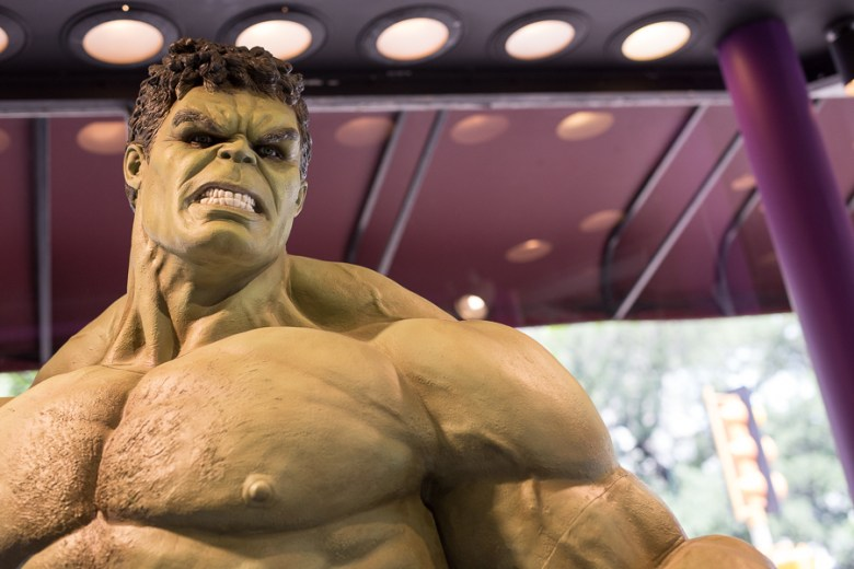 The Incredible Hulk at Luis Tassaud's Waxworks. Photo by Scott Ball.