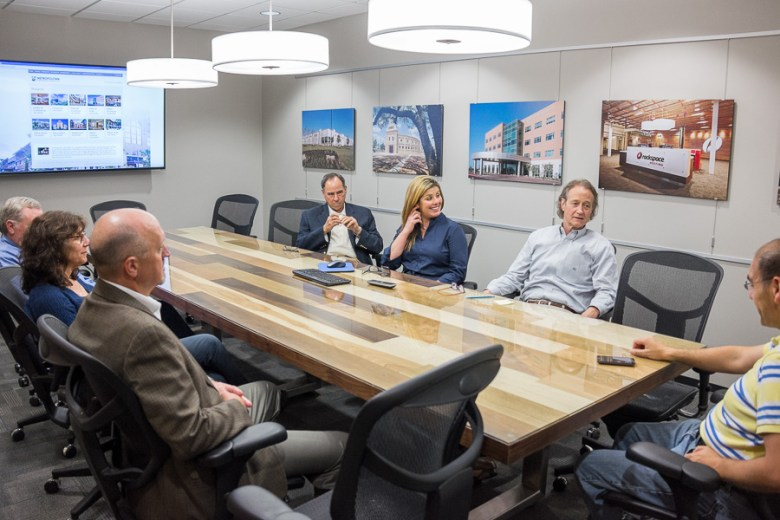 Metropolitan Contracting Company talks with The Rivard Report during a meeting. Photo by Scott Ball.