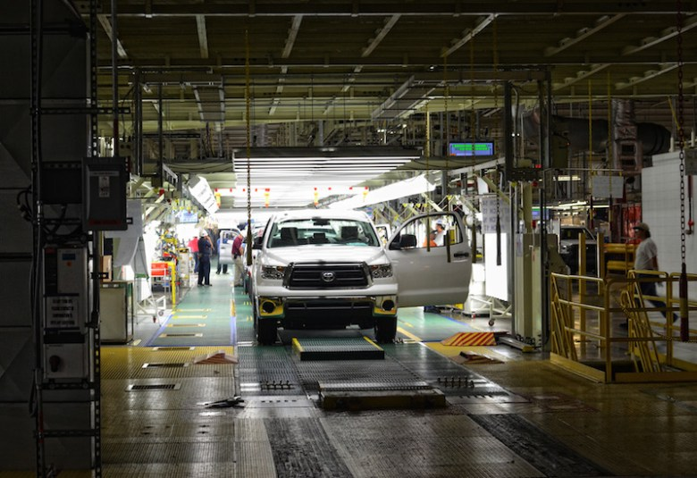 Toyota Tundra manufacturing line in the Southside, San Antonio. Photo courtesy of Toyota Texas.
