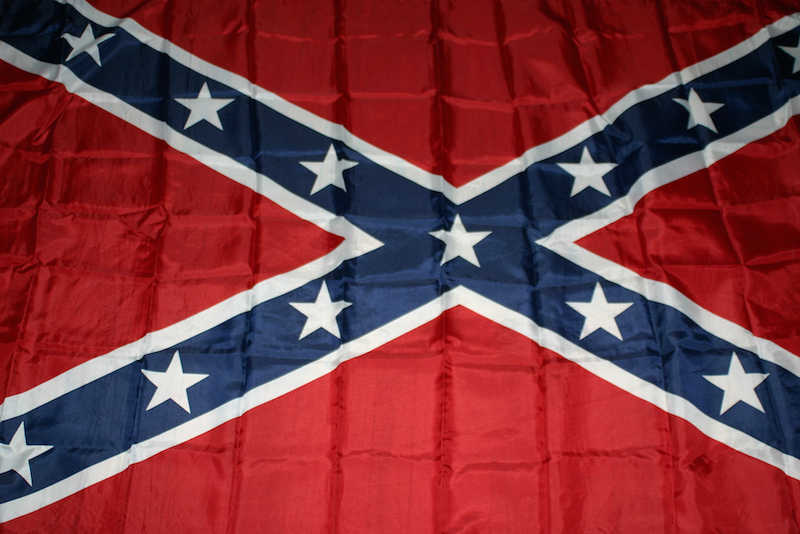 A Confederate flag. Photo courtesy of Flickr user pixxiestails.