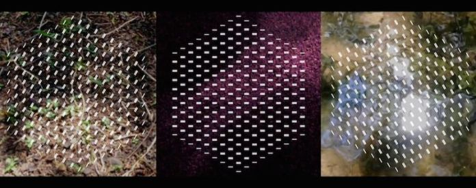 """Benjamin McVey's """"Fractured Spaces,"""" 2015, still from digital video, three-minute continuous loop, on view at the UTSA Main Gallery."""