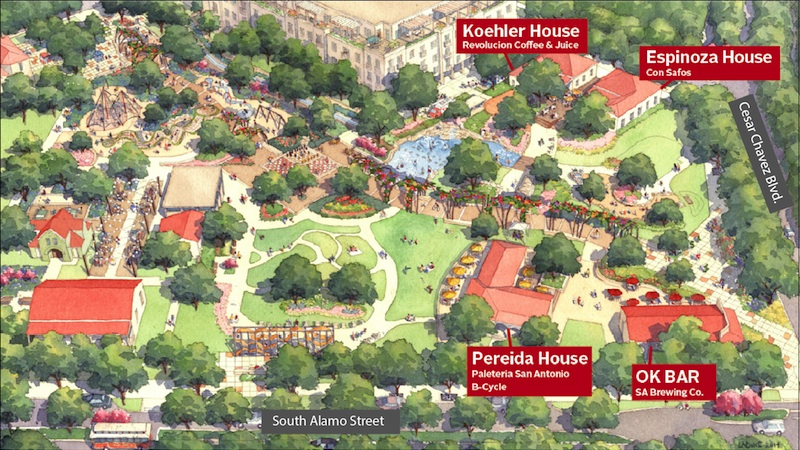 Yanaguanga Garden conceptual rendering. Graphic courtesy of Hemisfair.