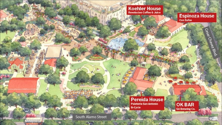 Yanaguanga Garden conceptual rendering. Graphic courtesy of Hemisfair.