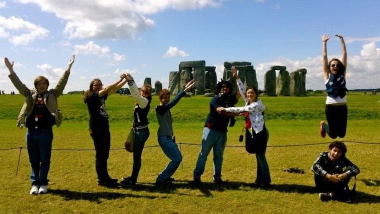 YOSA at Stonehenge. … It says YOSA, I promise. Photo by Alice Frederick.