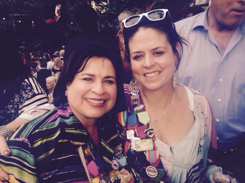 Mayoral candidate Leticia Van de Putte and Susan Oliver Heard enjoy the Kings Party during NIOSA 2015. Courtesy photo.