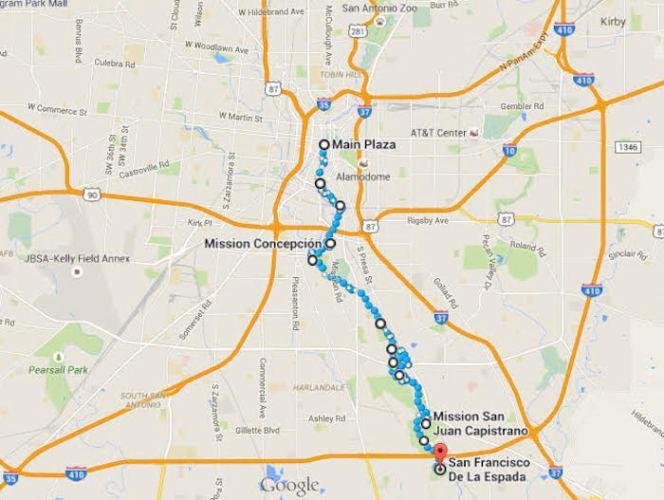 El Camino a las Misiones de San Antonio