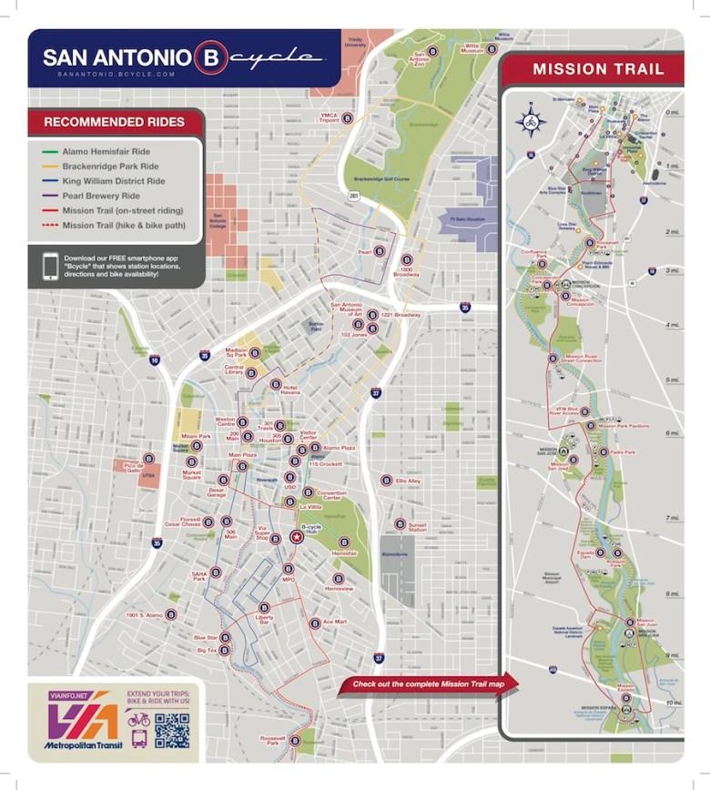 SanAntonio B-cycle-map-October2014-print