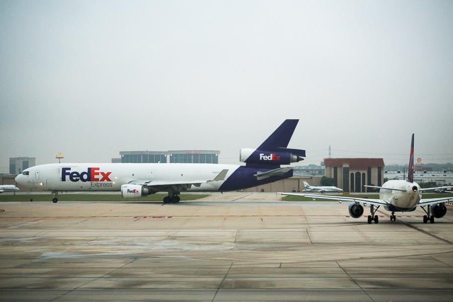 A FedEx Express plane. Photo by Scott Ball.