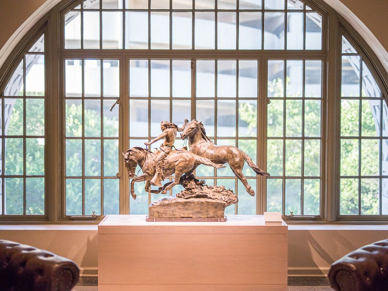 A sculpture on display at the Briscoe Western Art Museum. Photo by Scott Ball.