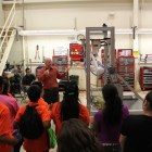 At SWRI, students learned about robotic engineering and the research and development of industrial robots. Courtesy photo.