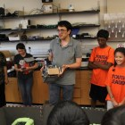 The students learn about robotics from Brandy Alger. Courtesy photo.