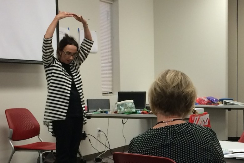 Teachers learn to add music and movement into their lessons at a Pre-K 4 SA Summer Academy. Photo by Bekah McNeel