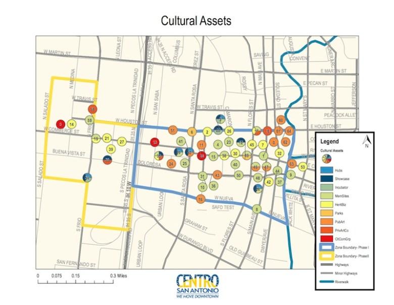 Zona Cultural asset map