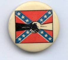 Southern Student Organizing Committee logo on a vintage button.