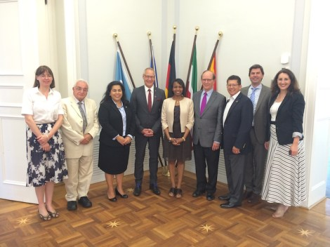 City of Bonn Meeting - Dr Chiscano, Viagran, City Manager Wolfgang Fuchs, Taylor, Wolff, Richard Perez, Stefan Wager (Bonn Intl Rel), Sherry D