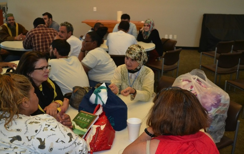 Narjis Pierre (center) celebrates Eid ul-Fitr at Haven for Hope in 2014. Photo by Amir Ehsan.