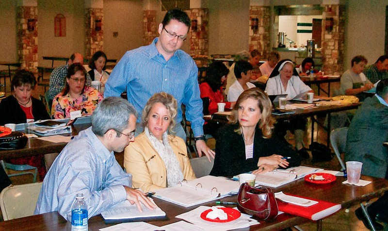 Michael Bacon facilitating a strategic planning session for the Community Foundation of the Texas Hill Country. Courtesy photo.