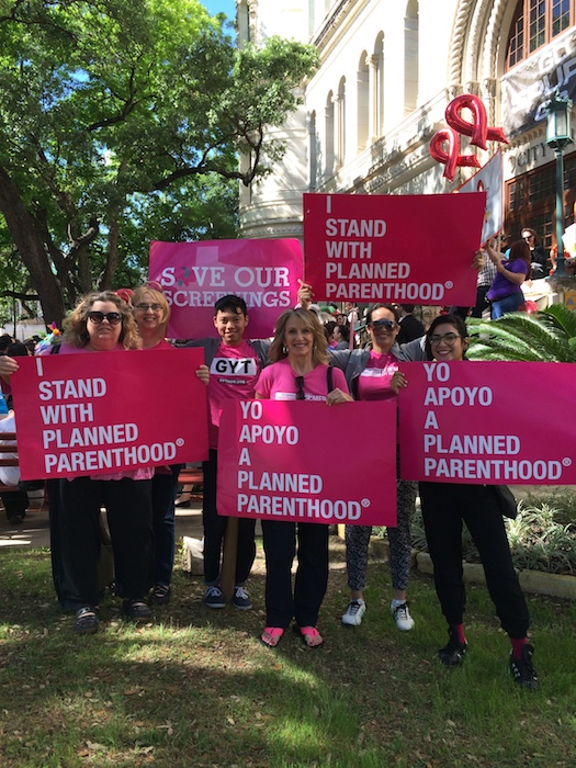 Planned Parenthood supporters at Big Give SA rally. Courtesy photo.