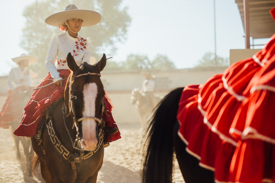 Escaramuzas exit near the stables. Photo by Scott Ball.