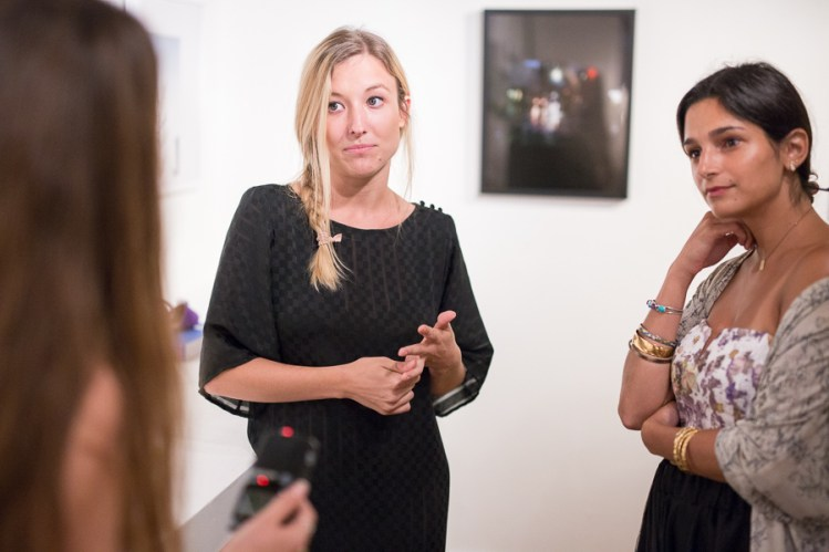 Co-owners Faith Haddad (right) and Lawson Ellzey speak to reporter Joan Vinson about Haus Collective. Photo by Scott Ball.