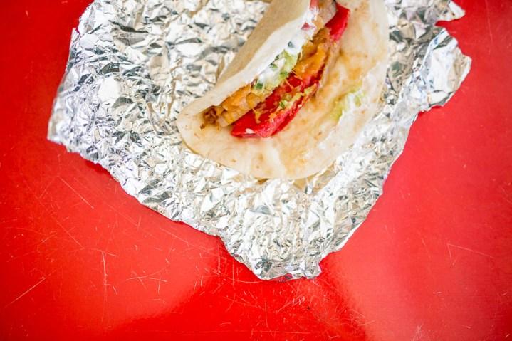 A chicken fajita enchilaco. Photo by Scott Ball.