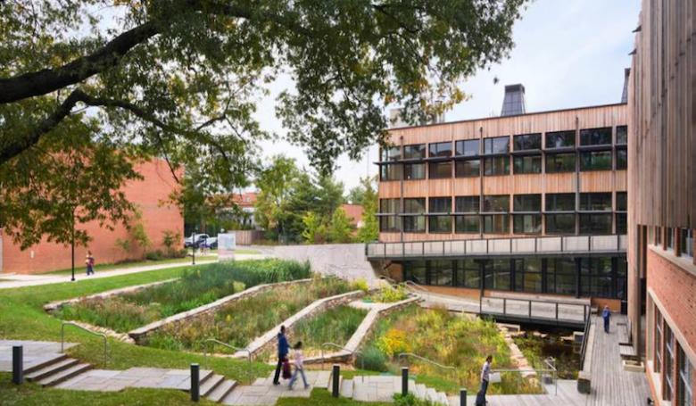 A rendering of a community rain garden facility. Courtesy image.