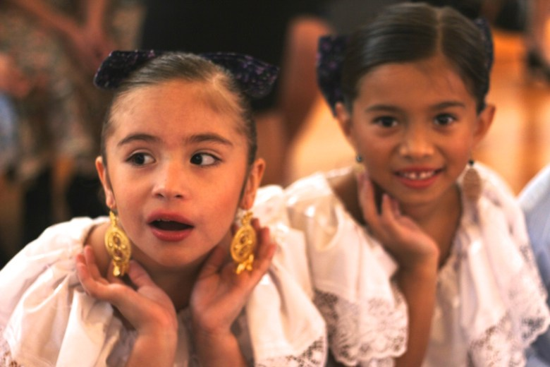 Two young dancers from  the Alma Gitana dance company performed during the event. Photo by Joan Vinson.
