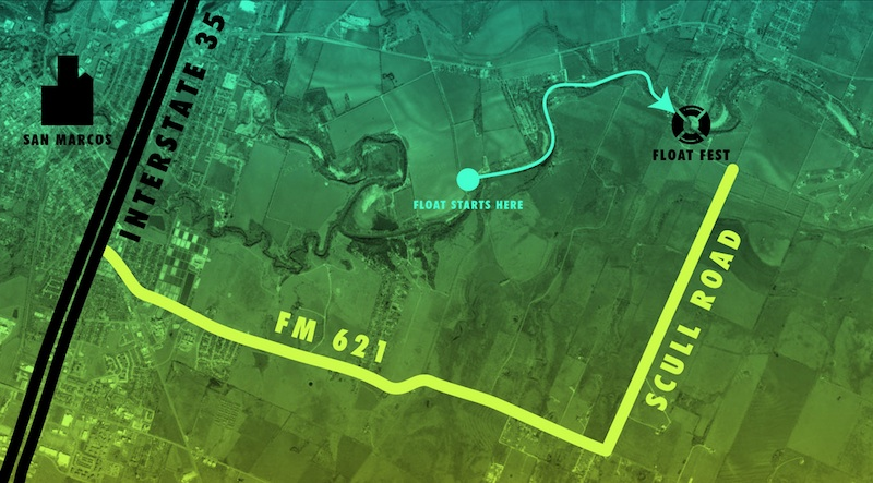 The tubing route for the 2015 Float Fest. Courtesy image.