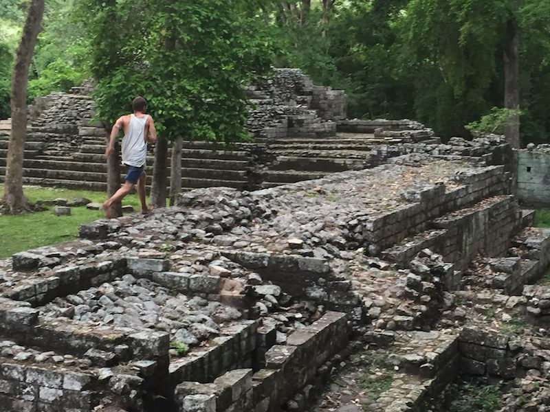 Running free through the ruins of Copán after the visitors had left. Photo by Everett Redus.