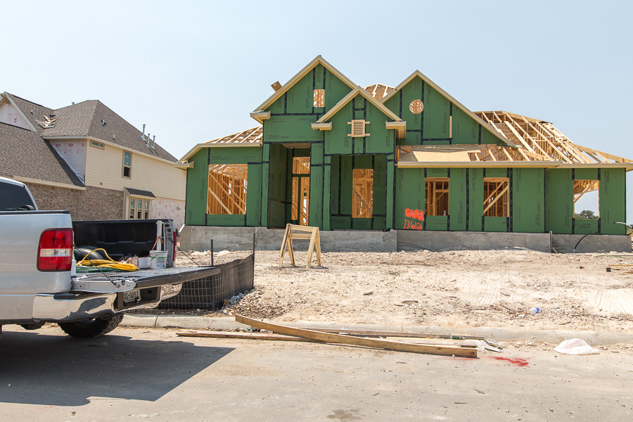 A house under construction in Alamo Ranch. Photo by Scott Ball.