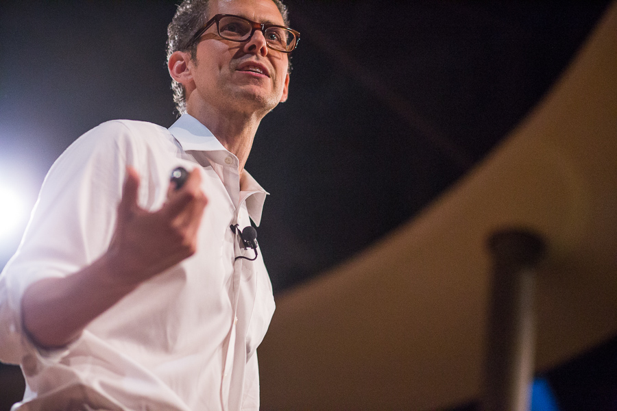 Rober Hammond gives a keynote at Tech Bloc. Photo by Scott Ball.