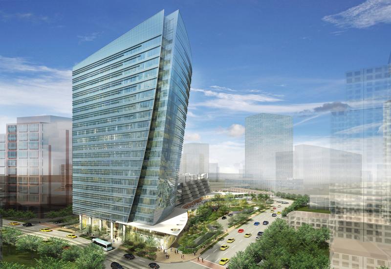 Mckinney Olive in uptown Dallas Texas. © Pelli Clarke Pelli Architects