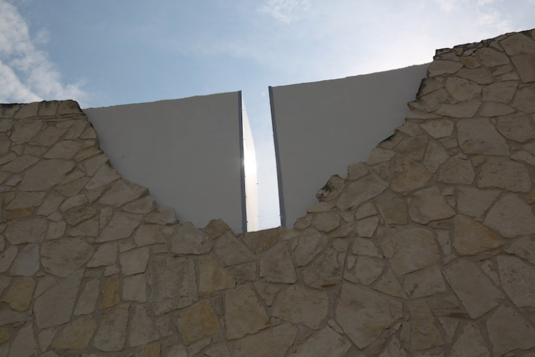 The Wall of Freedom represents the Pentagon. It expresses the sacrifices made by our ancestors and the freedom gained. Photo by Kay Richter.