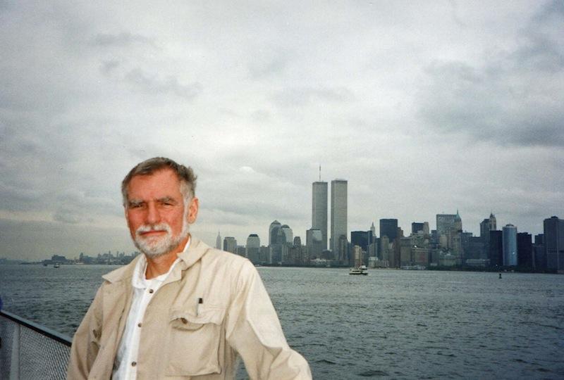John Ward on the Staten Island Ferry before the 9/11 terrorist attacks on the World Trade Center. Photo by Paula Ward.