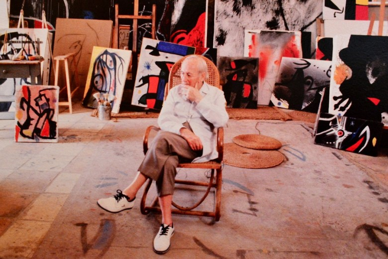 Miro in studio from video. Photo by Page Graham.