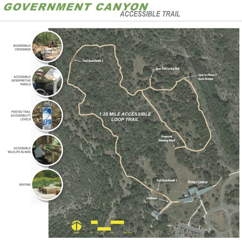 Government Canyon State Natural Area's trail system.