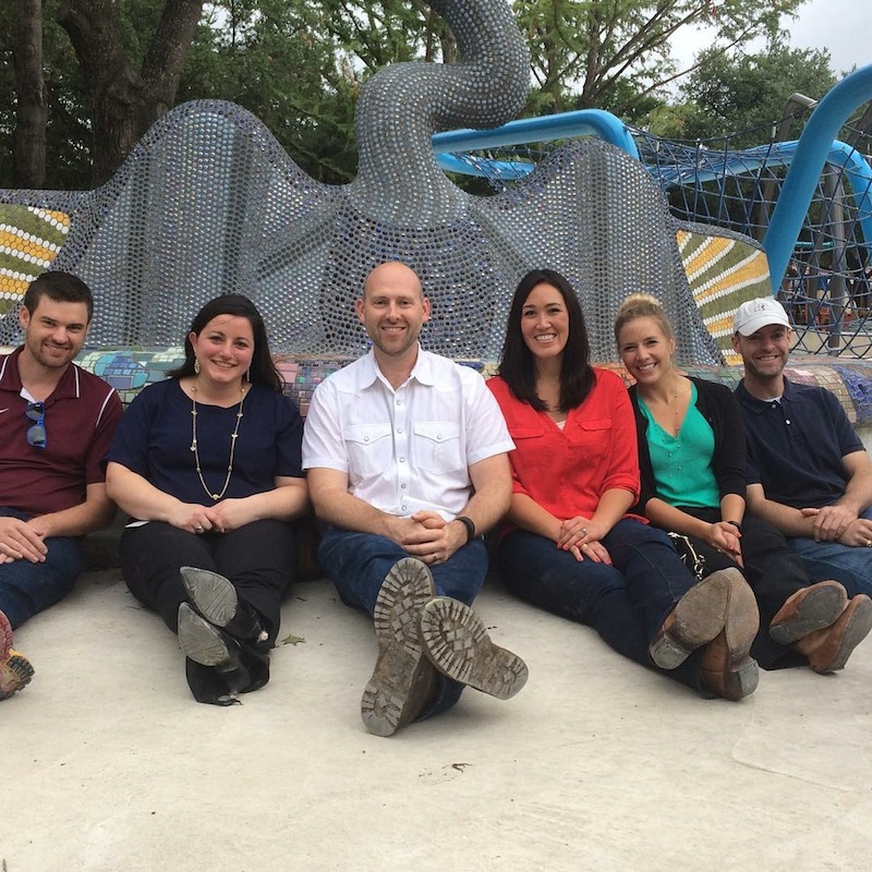Members of the Hemisfair Coalition board during a hard hat tour of Yanaguana Garden. Courtesy photo.