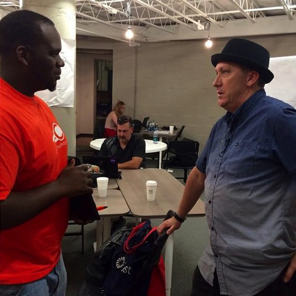 Nick Longo, co-founder of Geekdom, provides guidance to catapult weekend participants. Courtesy photo.