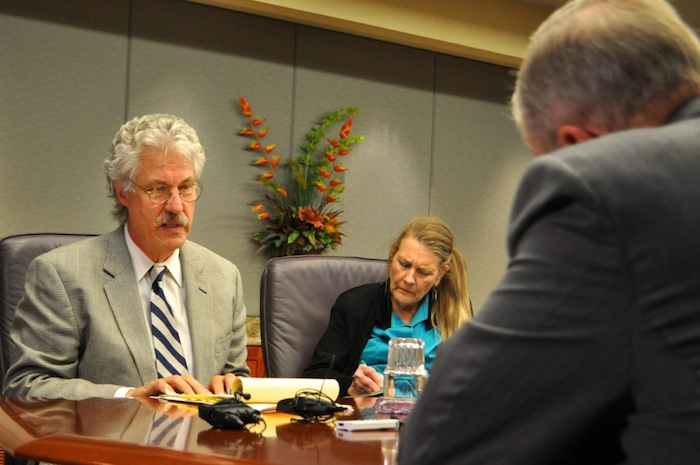 The City's lead negotiator Jeff Londa said $75.5 million is the highest the City is willing to pay for a new contract with the police union. Photo by Iris Dimmick.