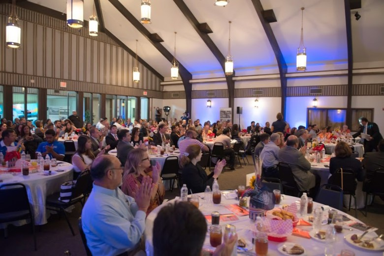 The crowd during the State of the Port address. Photo courtesy of Port San Antonio.