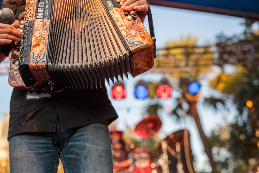Flying Balalaika Brothers perform at the Maverick Plaza stage. Photo by Scott Ball.