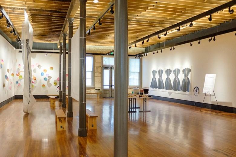 The exhibit hall. Photo by Scott Ball.