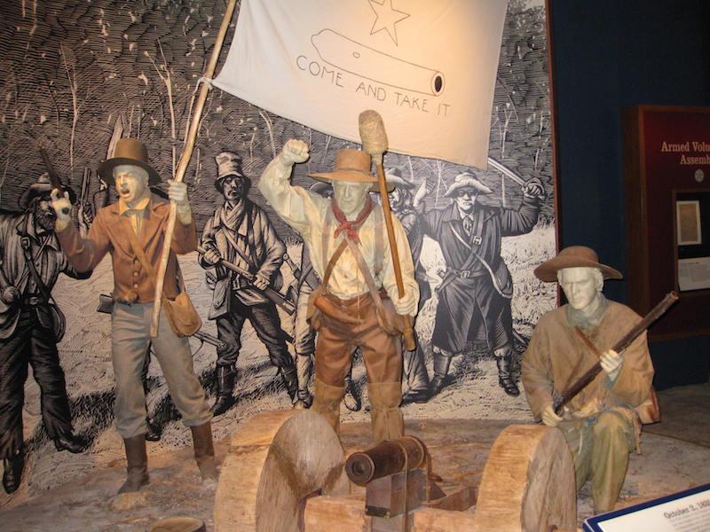 The Bob Bullock Museum's Texan revolutionary ambushed the ambling visitor. Photo by Vedant Peris.