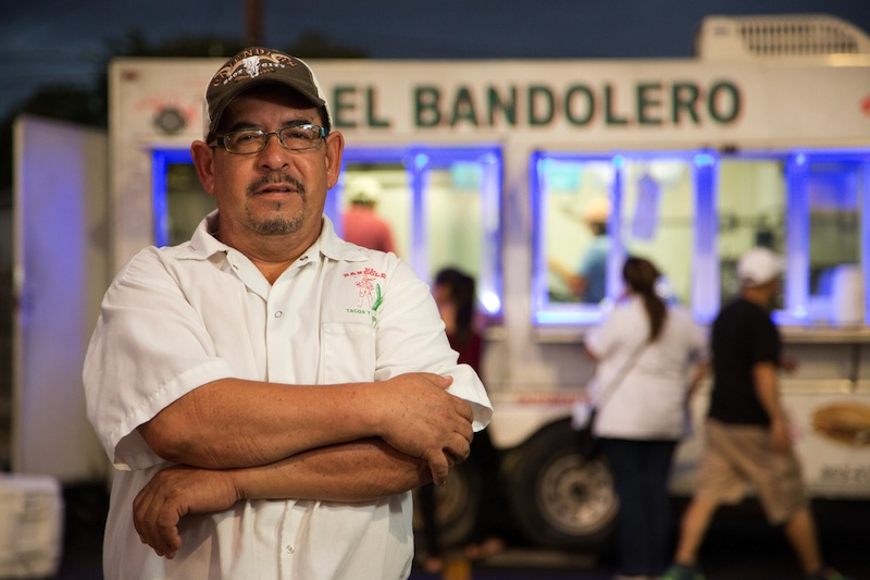 Regino Soriano is one of the plaintiffs in a case challenging San Antonio's food truck laws. Image courtesy of Institute for Justice.