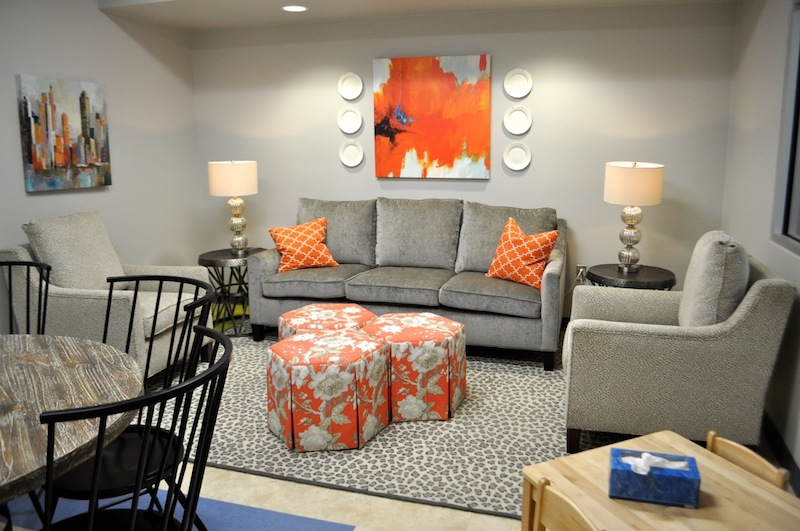 One of several therapy spaces in the Harvey E. Najim Hope Center. Photo by Iris Dimmick.
